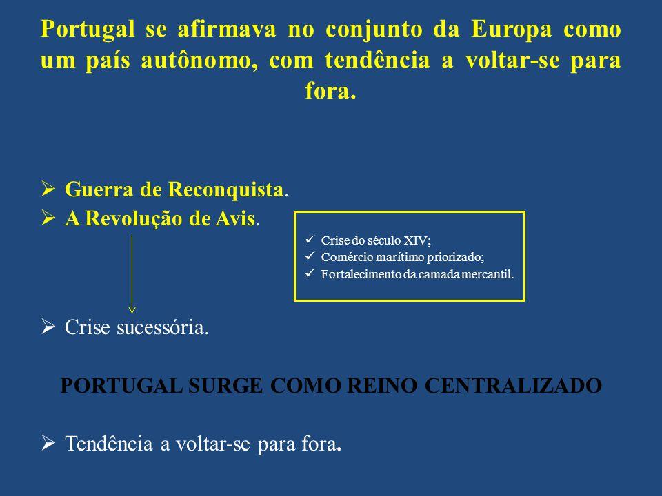 PORTUGAL SURGE COMO REINO CENTRALIZADO