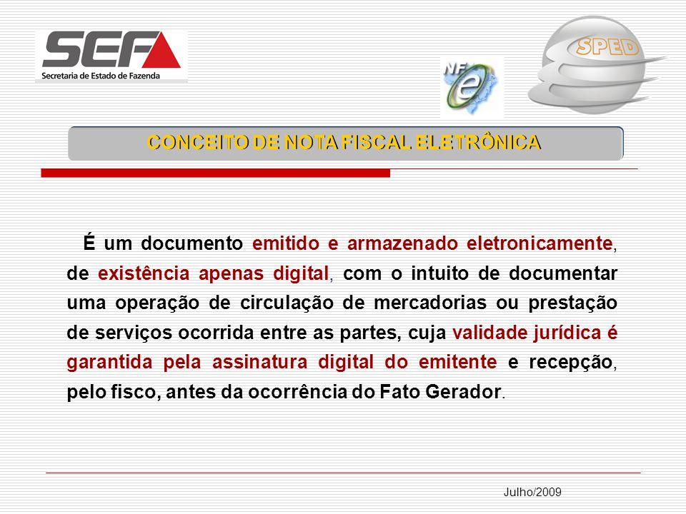 CONCEITO DE NOTA FISCAL ELETRÔNICA