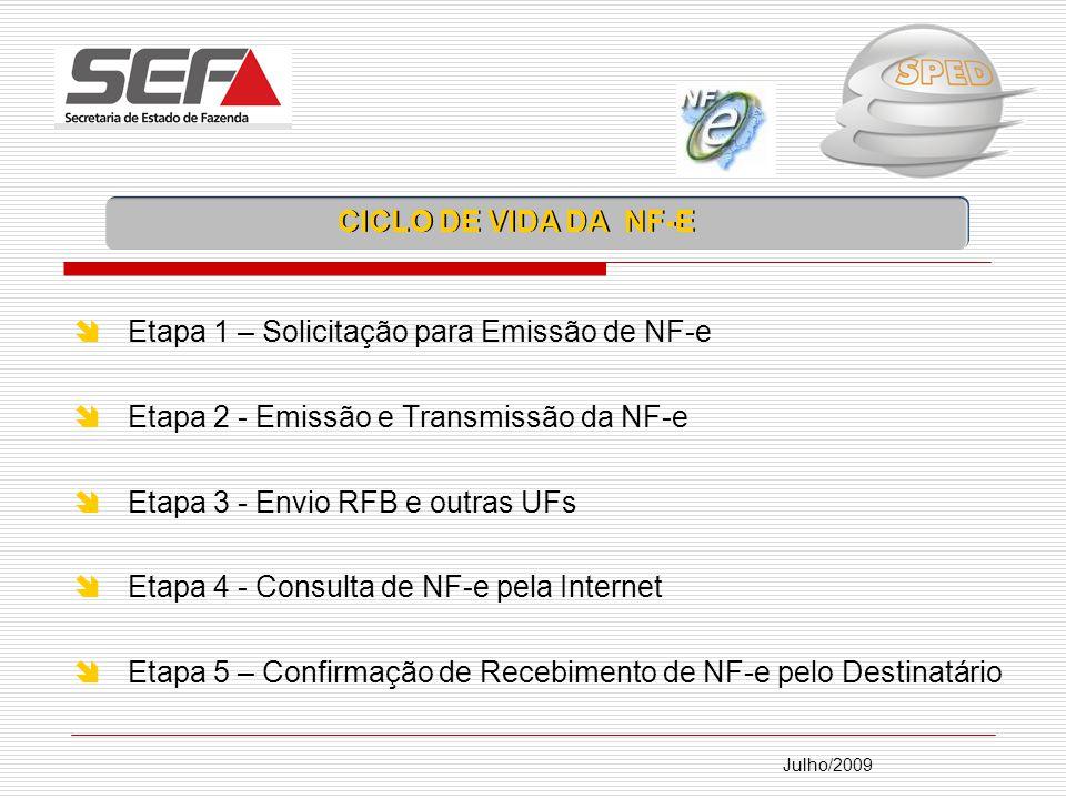Etapa 1 – Solicitação para Emissão de NF-e