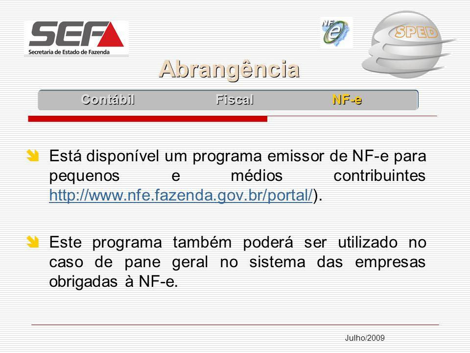 Abrangência Contábil Fiscal NF-e.
