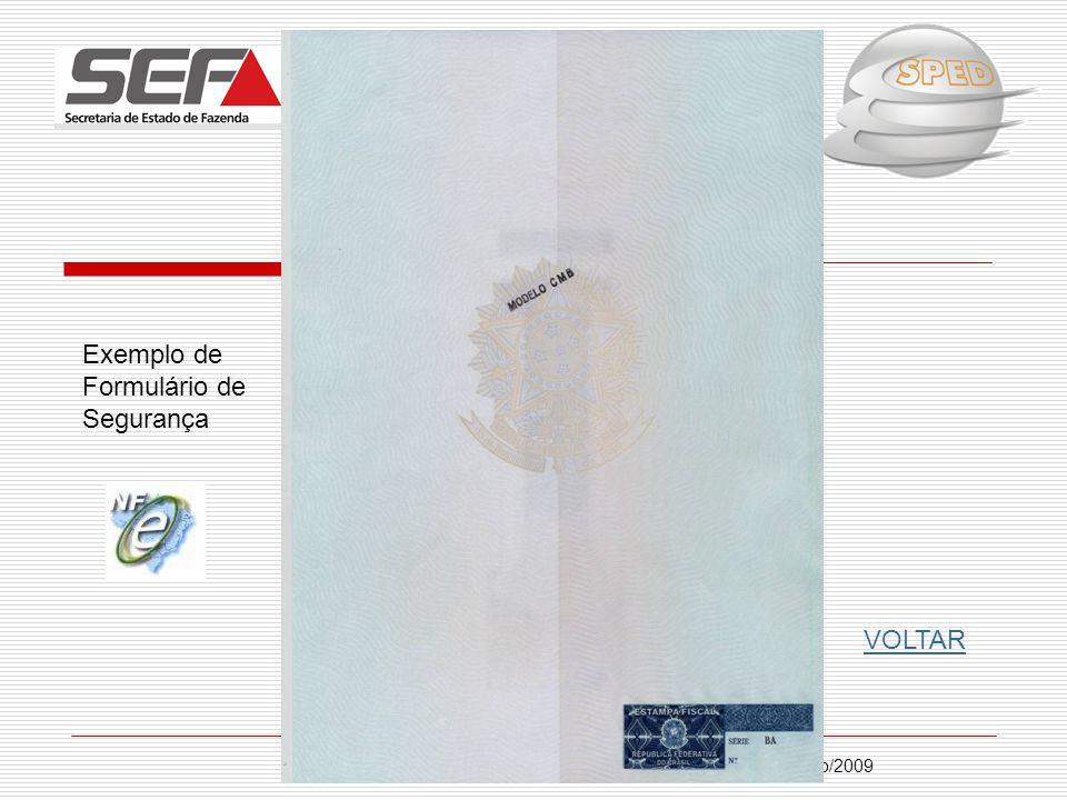 Exemplo de Formulário de Segurança