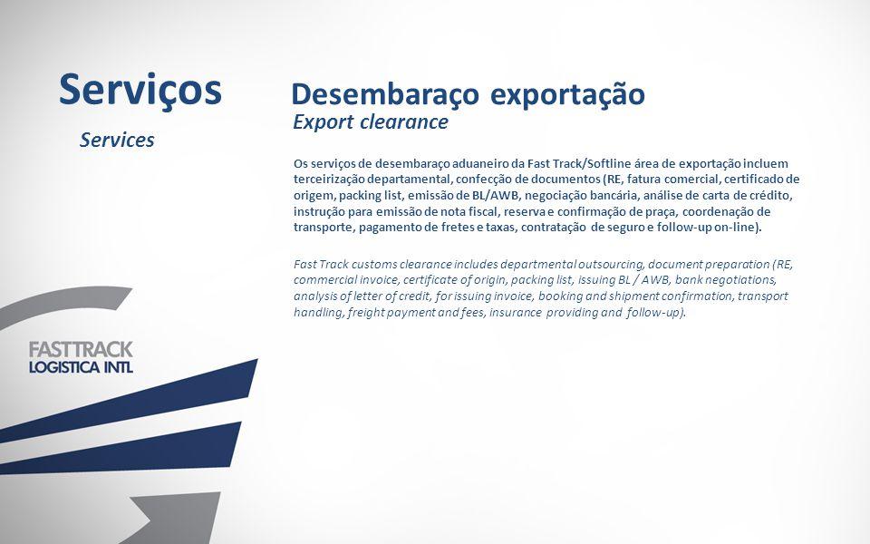 Serviços Desembaraço exportação Export clearance Services