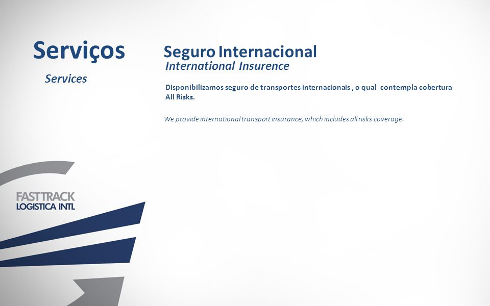 Serviços Seguro Internacional International Insurence Services