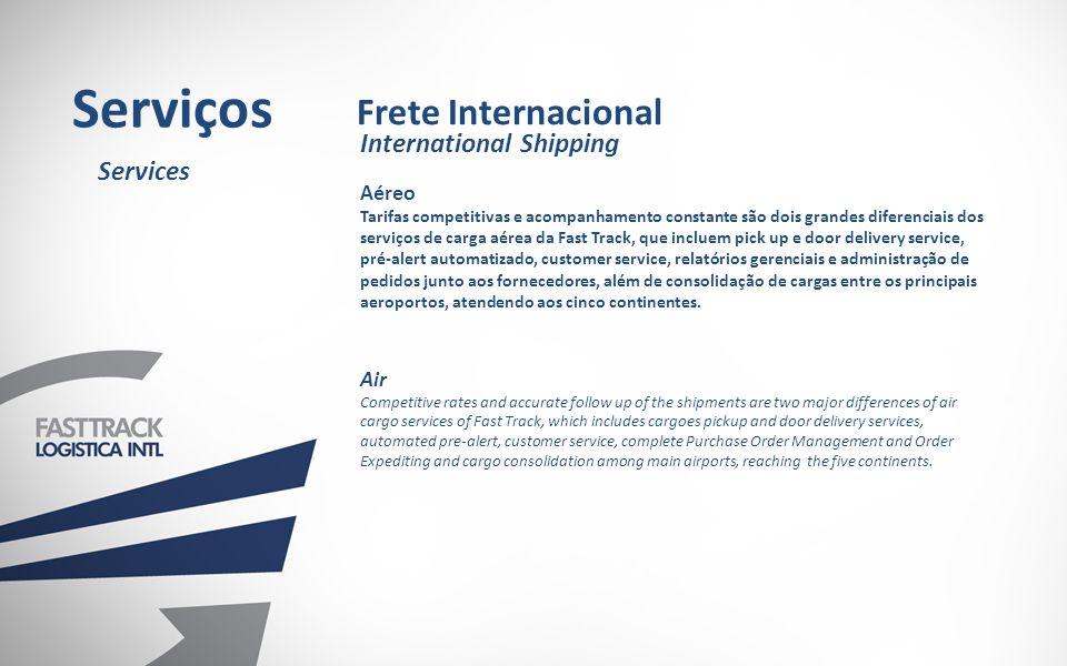 Serviços Frete Internacional International Shipping Services Aéreo Air
