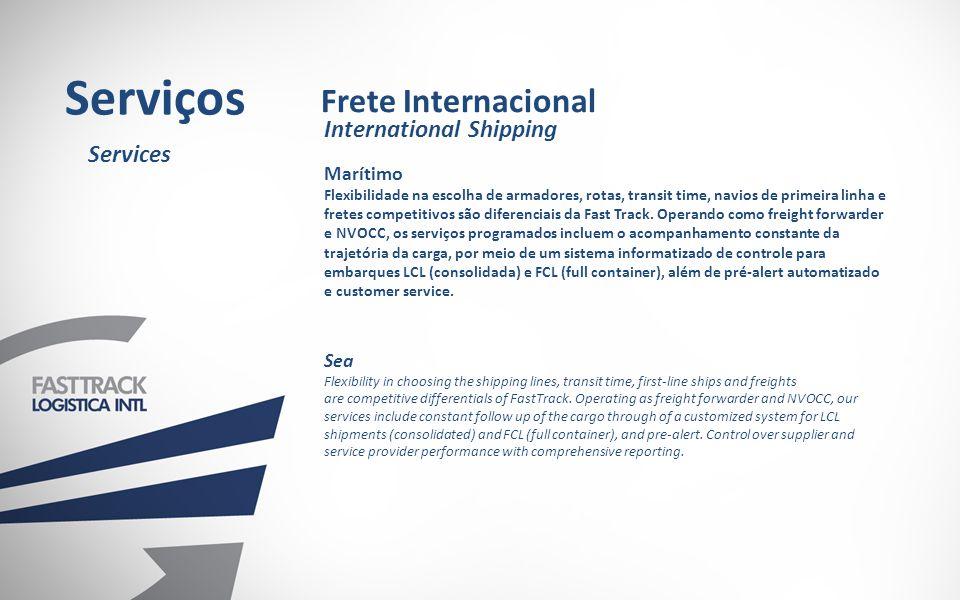 Serviços Frete Internacional International Shipping Services Marítimo