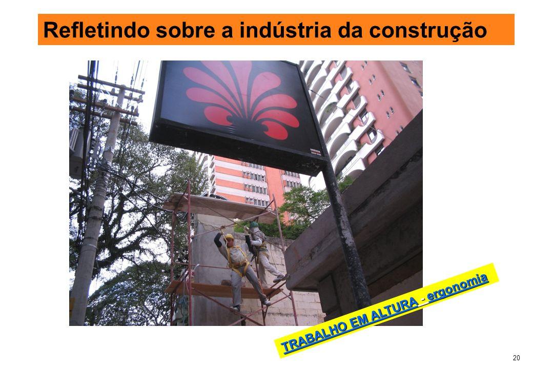 Refletindo sobre a indústria da construção