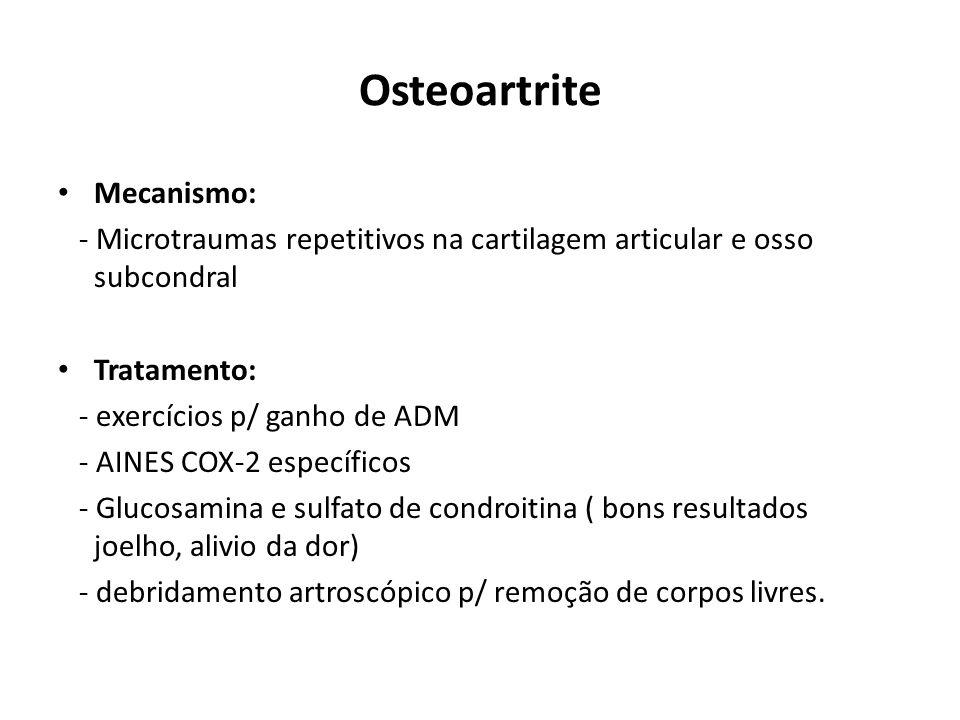 Osteoartrite Mecanismo: