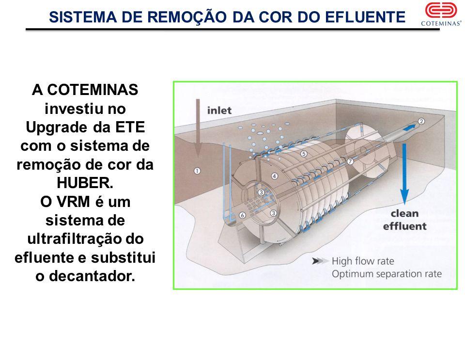 SISTEMA DE REMOÇÃO DA COR DO EFLUENTE
