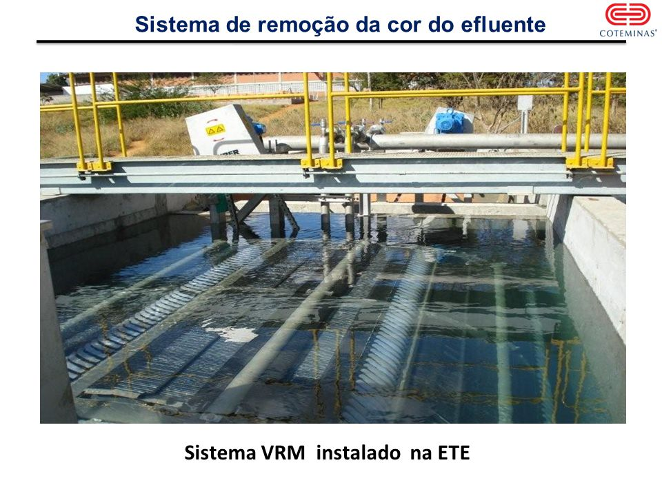 Sistema VRM instalado na ETE