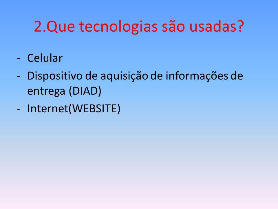 2.Que tecnologias são usadas