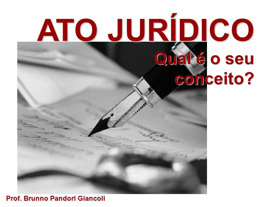 ATO JURÍDICO Qual é o seu conceito Prof. Brunno Pandori Giancoli