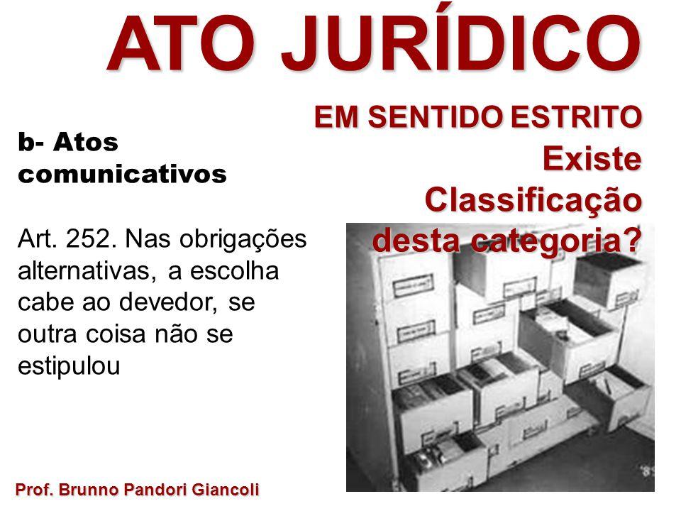 ATO JURÍDICO EM SENTIDO ESTRITO