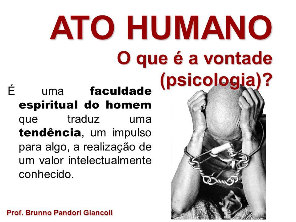 ATO HUMANO O que é a vontade (psicologia)
