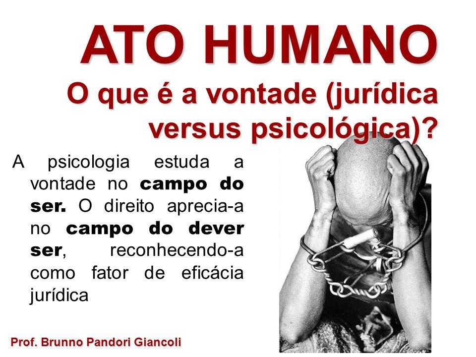 ATO HUMANO O que é a vontade (jurídica versus psicológica)
