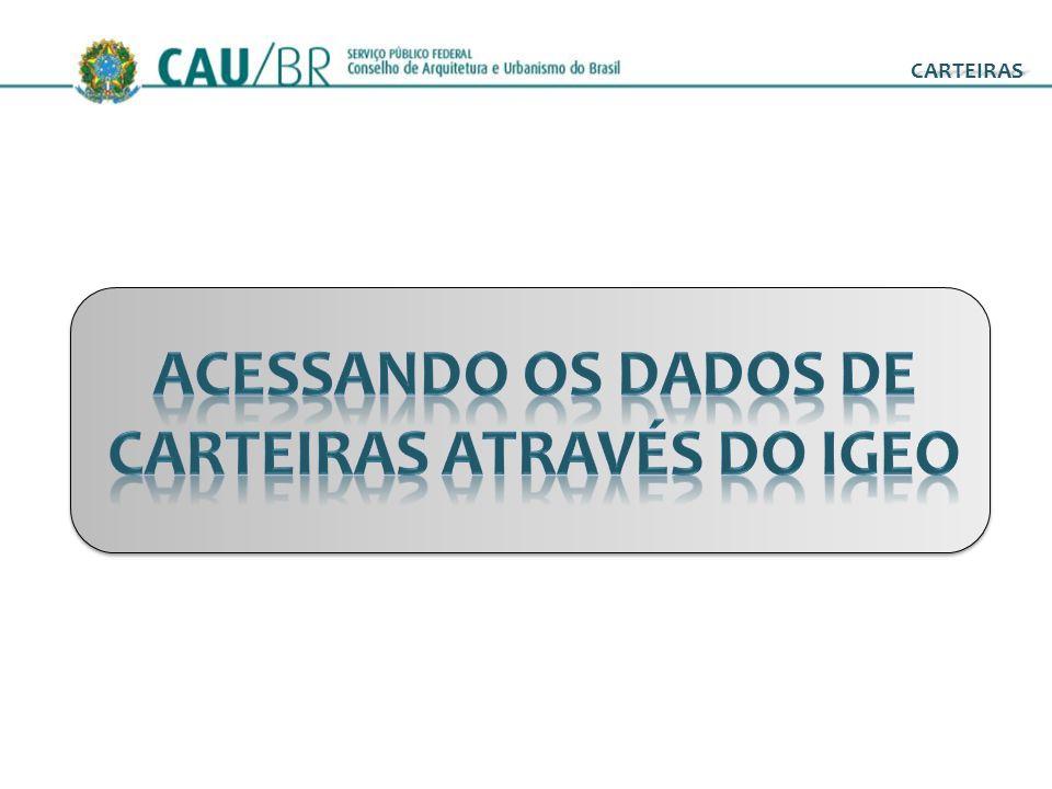 ACESSANDO OS DADOS DE CARTEIRAS ATRAVÉS DO IGEO
