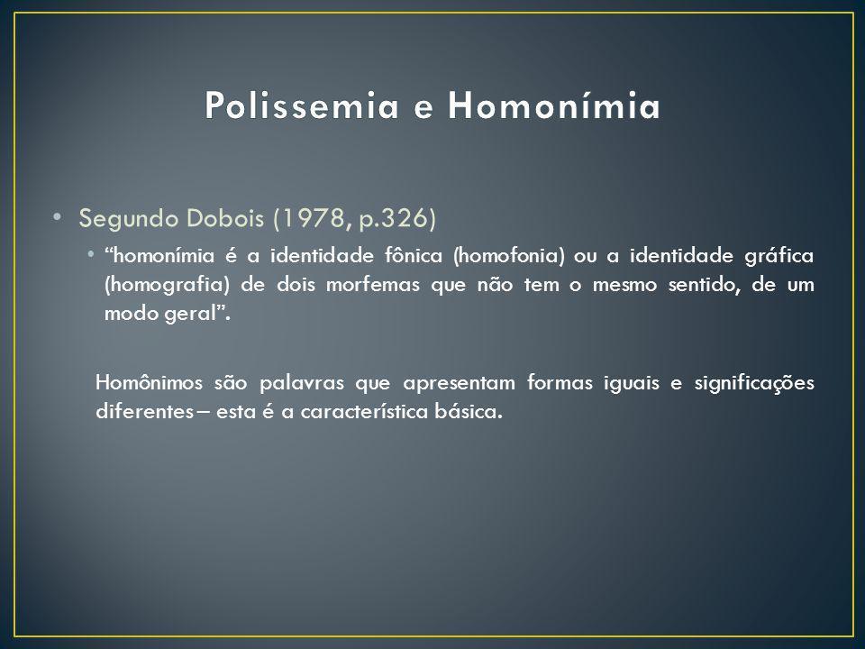 Polissemia e Homonímia