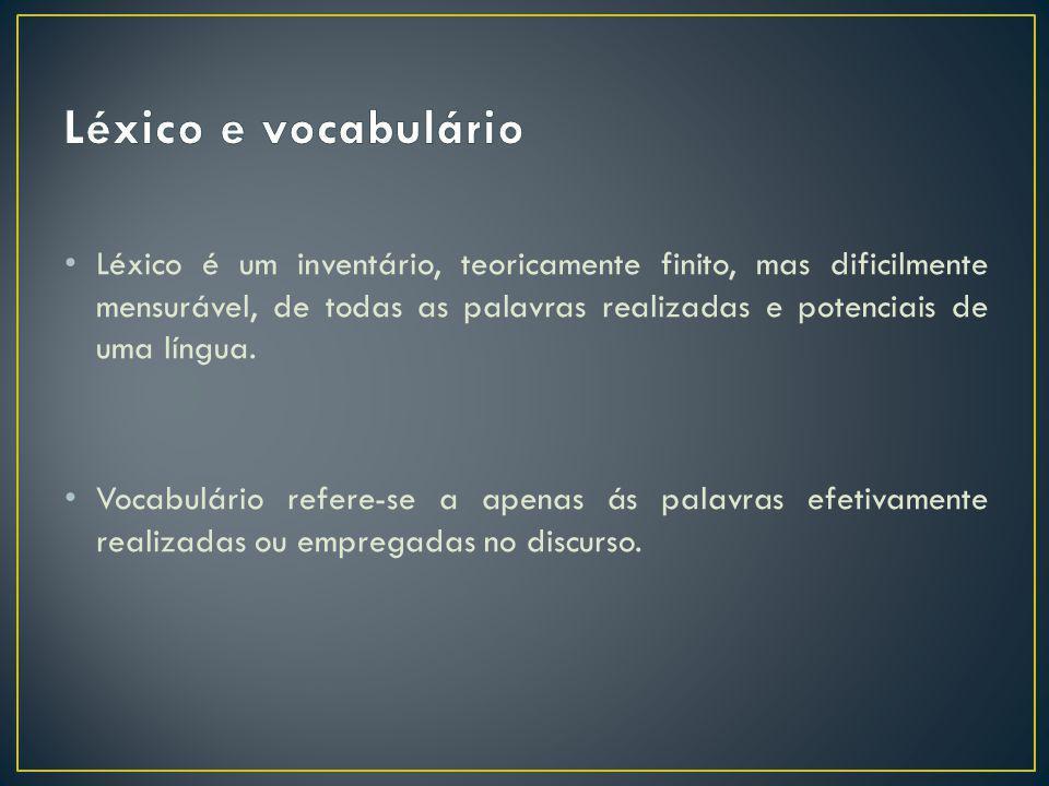 Léxico e vocabulário