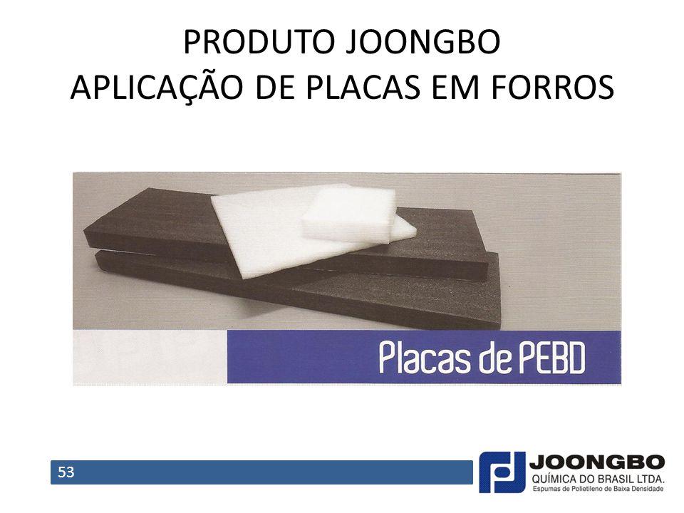 PRODUTO JOONGBO APLICAÇÃO DE PLACAS EM FORROS