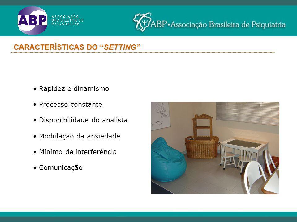 CARACTERÍSTICAS DO SETTING