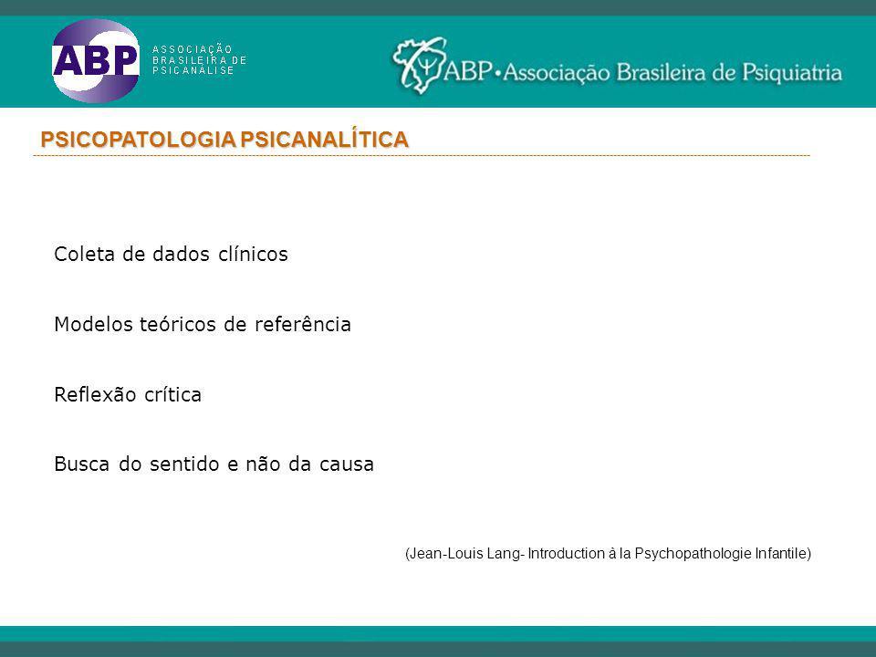PSICOPATOLOGIA PSICANALÍTICA