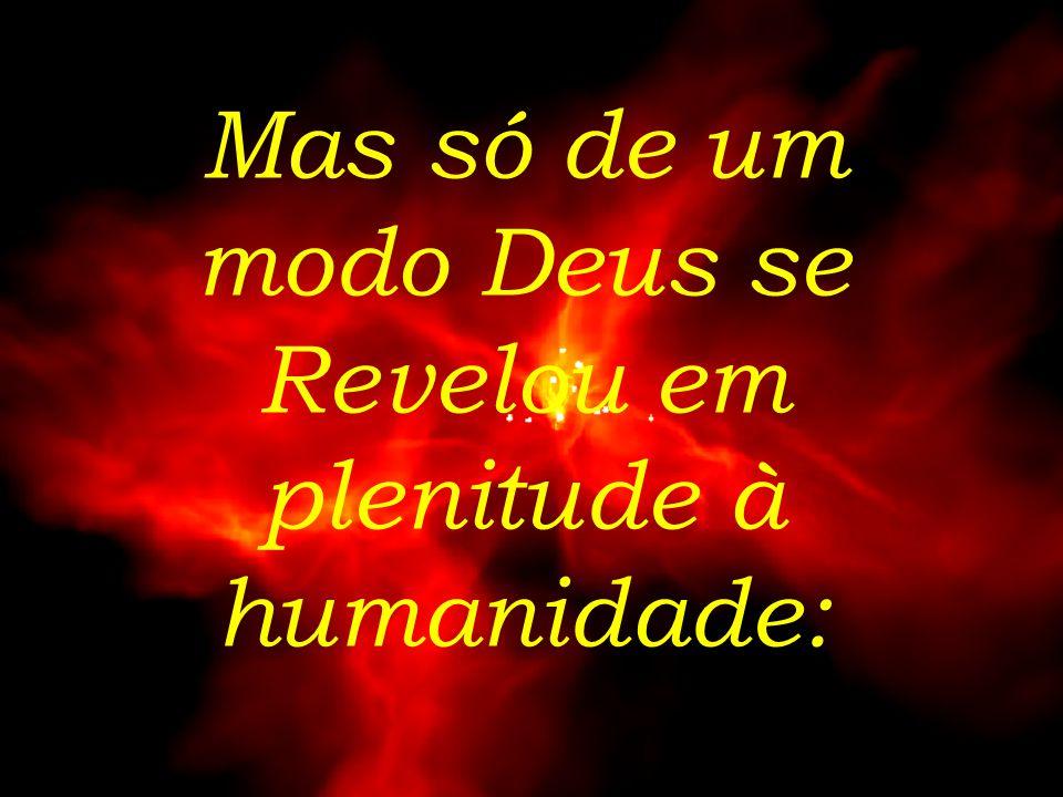 Mas só de um modo Deus se Revelou em plenitude à humanidade: