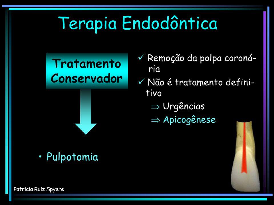 Terapia Endodôntica Tratamento Conservador • Proteção pulpar