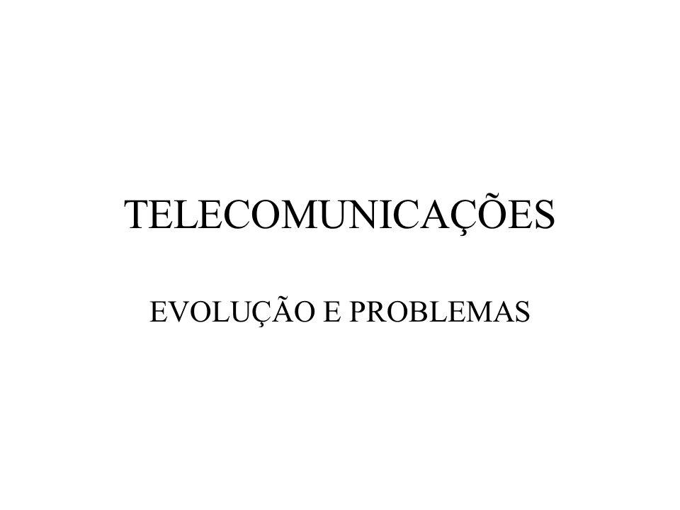TELECOMUNICAÇÕES EVOLUÇÃO E PROBLEMAS