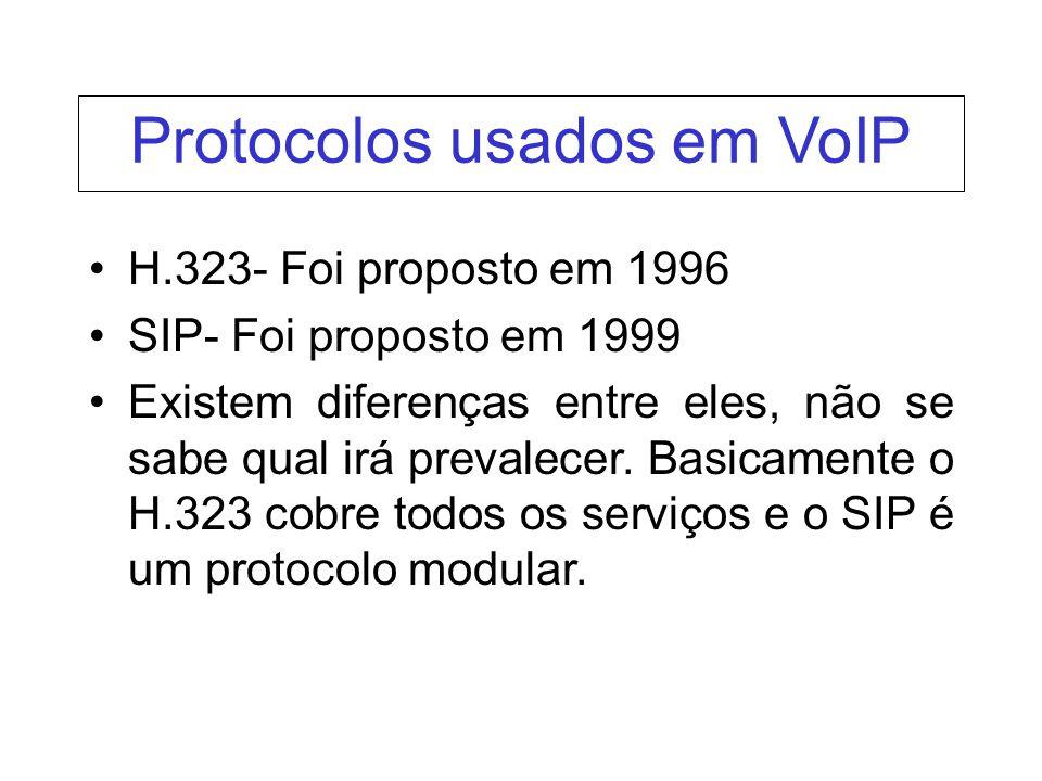 Protocolos usados em VoIP