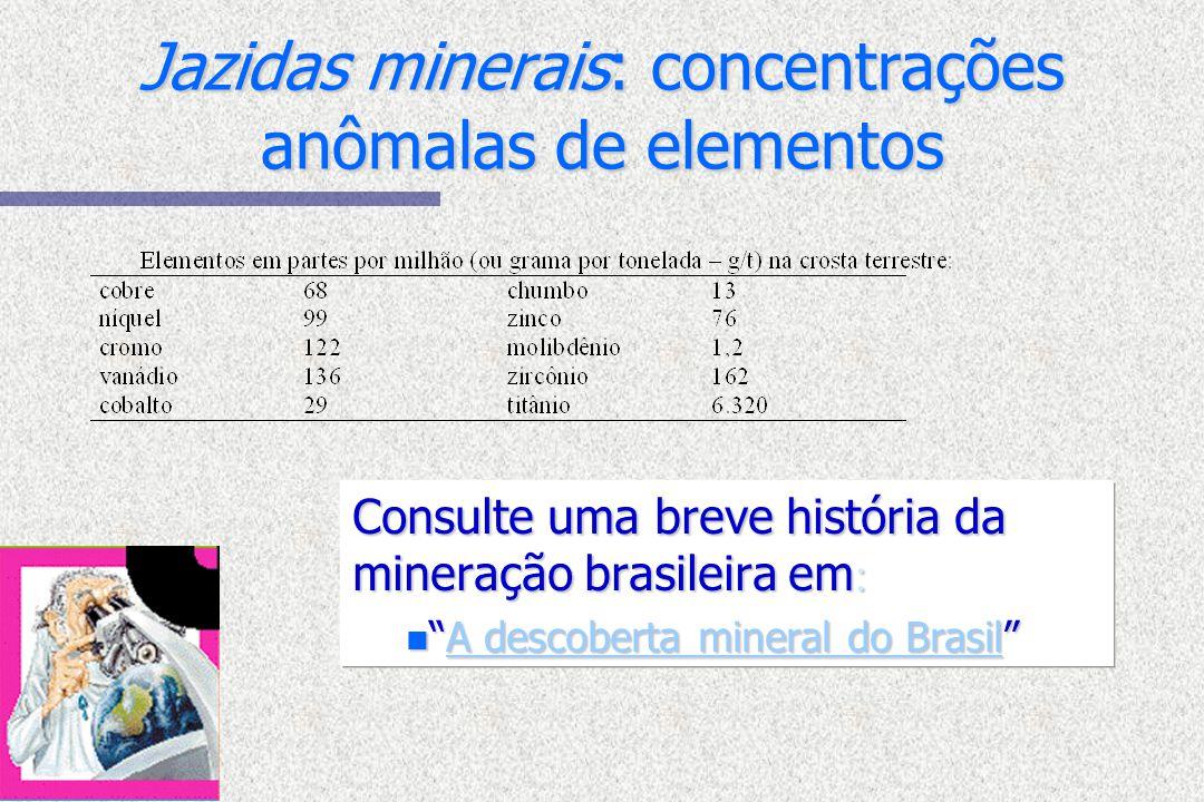 Jazidas minerais: concentrações anômalas de elementos