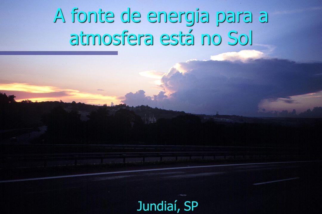 A fonte de energia para a atmosfera está no Sol
