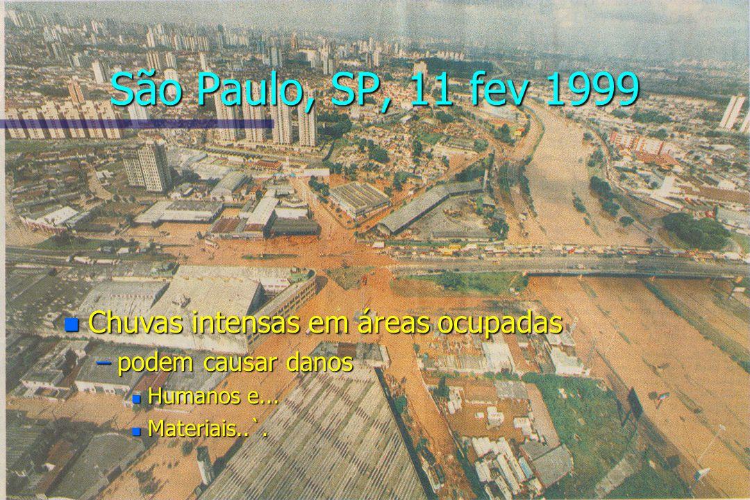 São Paulo, SP, 11 fev 1999 Chuvas intensas em áreas ocupadas