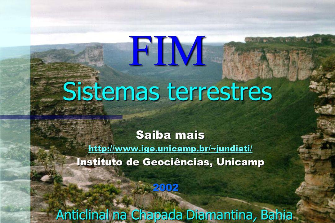 FIM Sistemas terrestres Anticlinal na Chapada Diamantina, Bahia