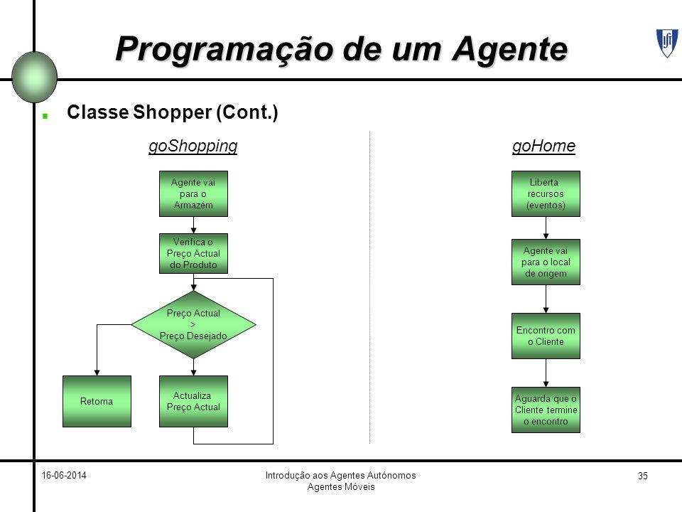 Programação de um Agente