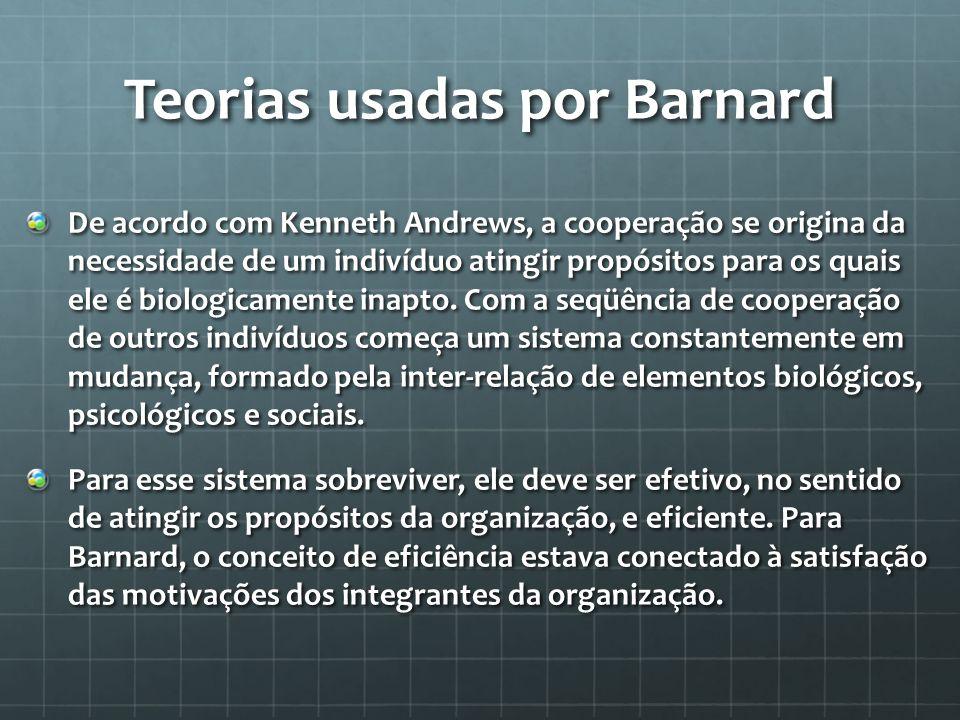 Teorias usadas por Barnard
