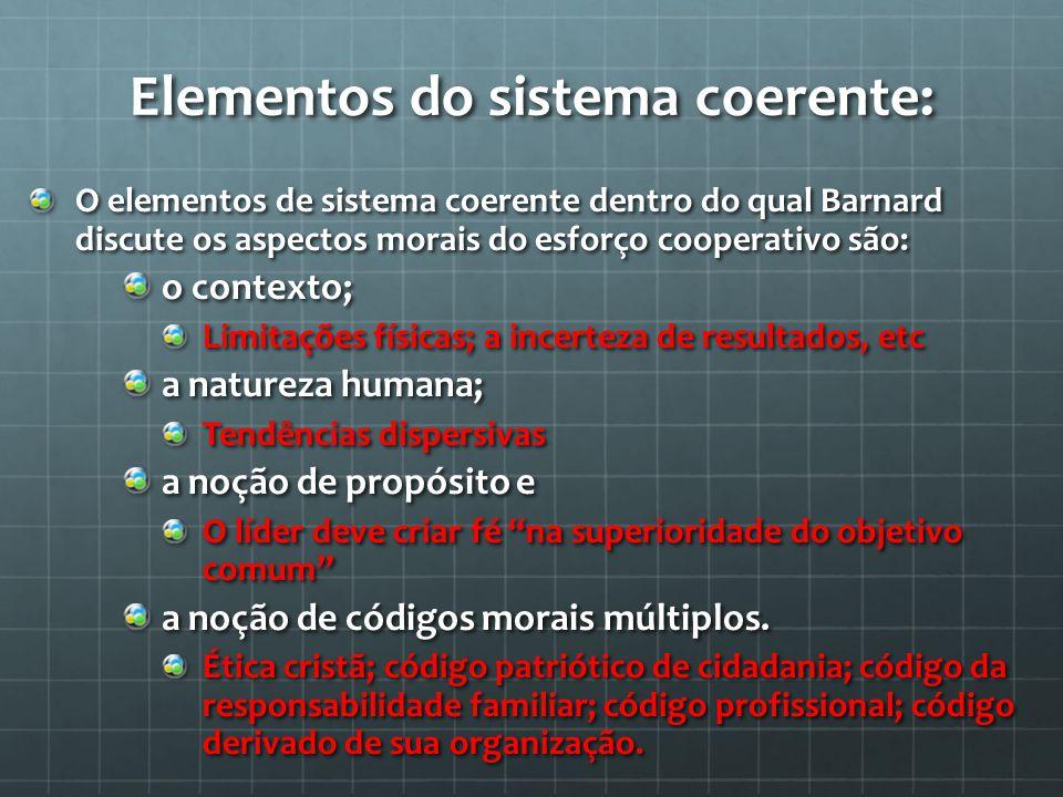 Elementos do sistema coerente: