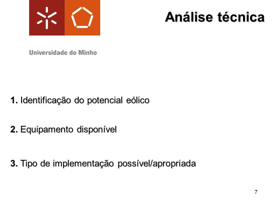 Análise técnica 1. Identificação do potencial eólico