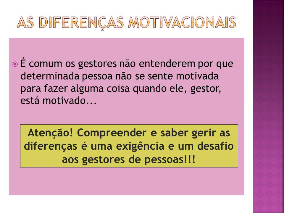 As diferenças motivacionais