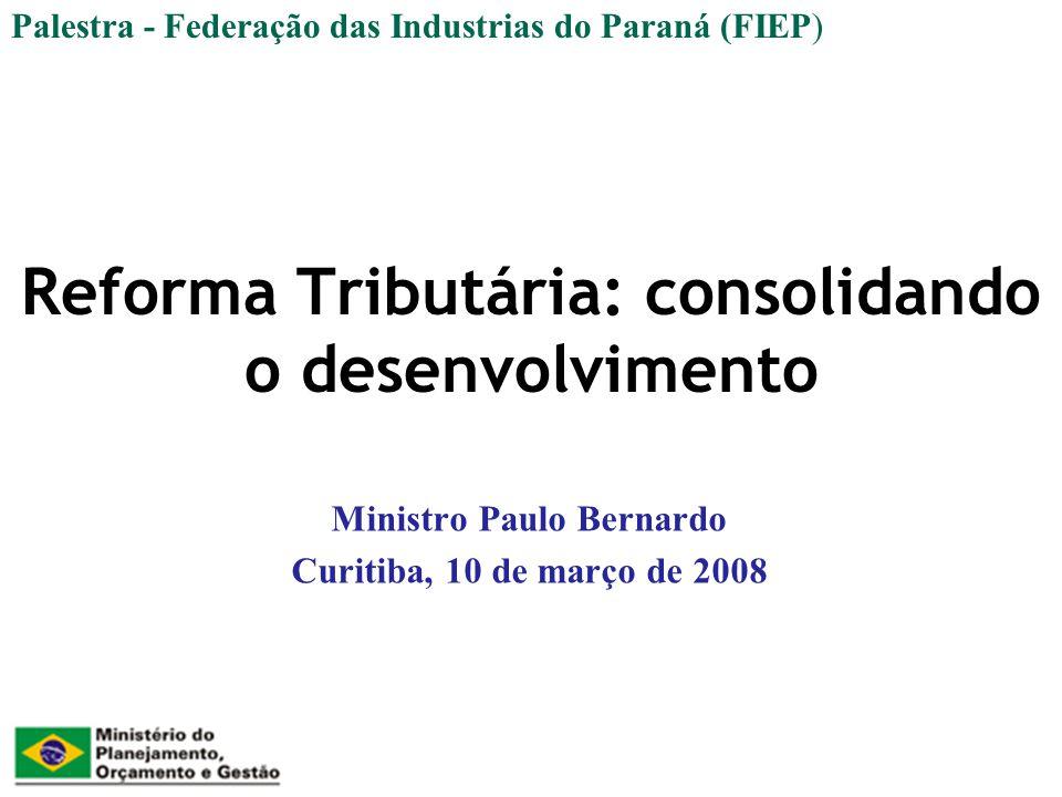 Reforma Tributária: consolidando o desenvolvimento