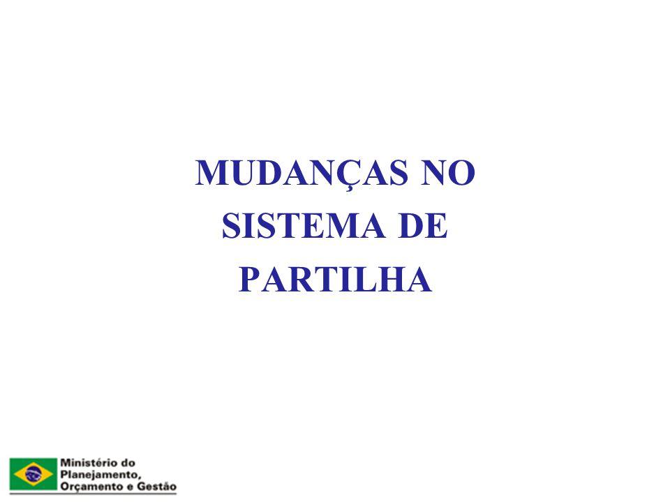 MUDANÇAS NO SISTEMA DE PARTILHA