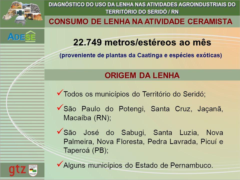 22.749 metros/estéreos ao mês