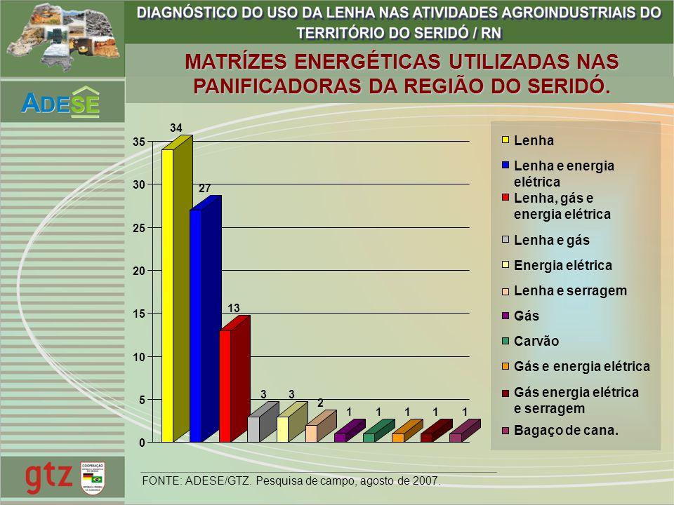 MATRÍZES ENERGÉTICAS UTILIZADAS NAS PANIFICADORAS DA REGIÃO DO SERIDÓ.