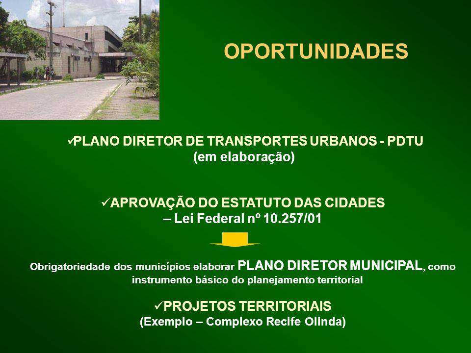 OPORTUNIDADES PLANO DIRETOR DE TRANSPORTES URBANOS - PDTU