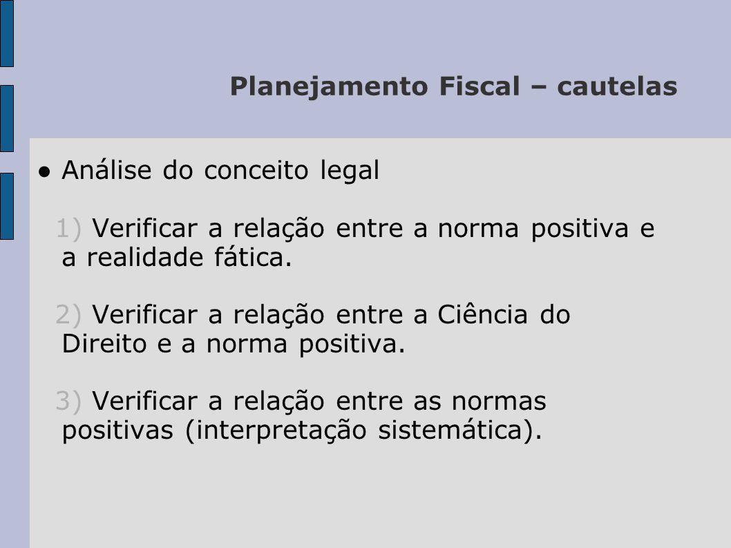 Planejamento Fiscal – cautelas