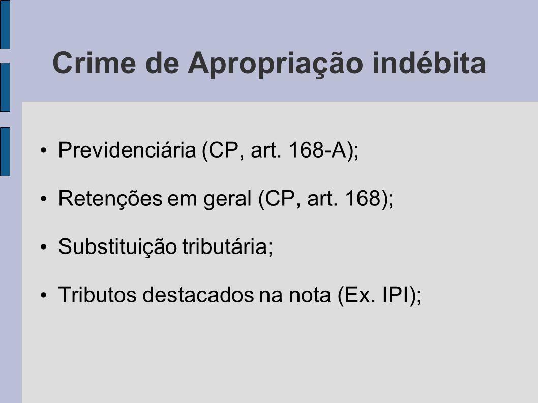 Crime de Apropriação indébita