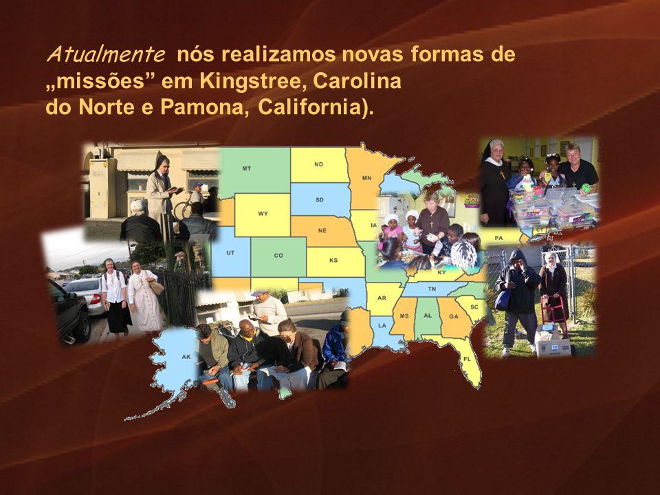 """Atualmente nós realizamos novas formas de """"missões em Kingstree, Carolina"""