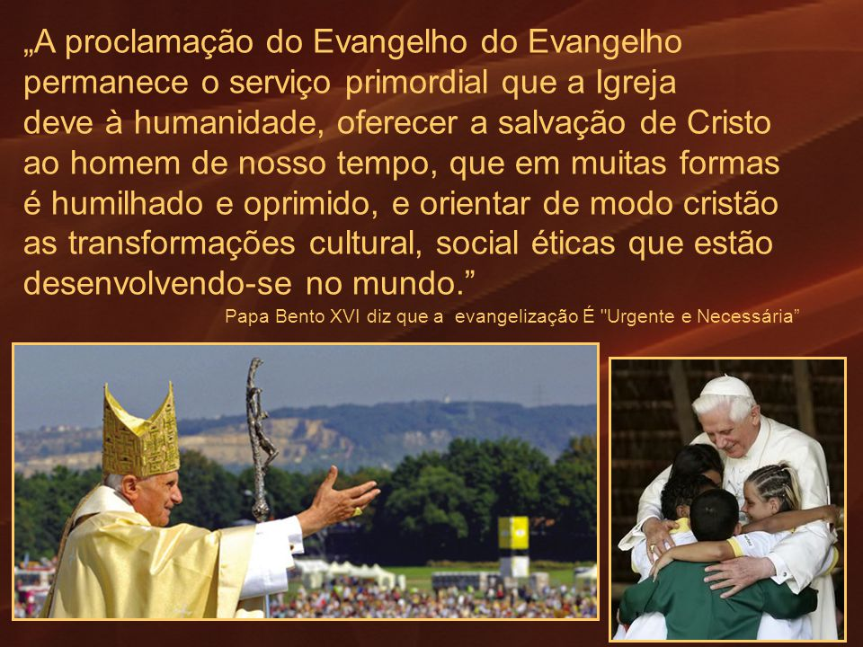 """""""A proclamação do Evangelho do Evangelho"""