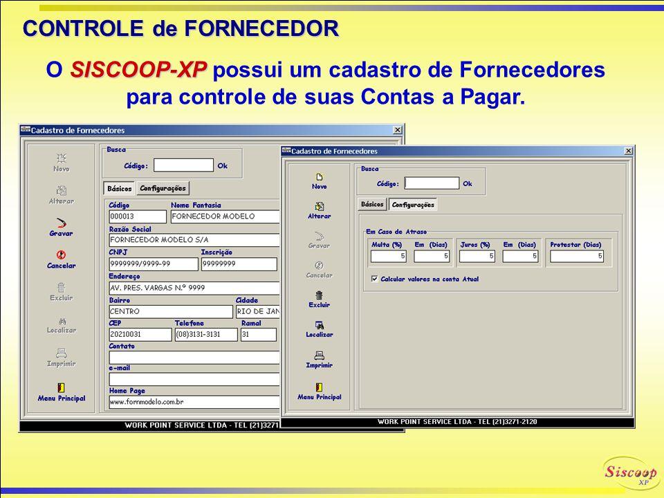 CONTROLE de FORNECEDOR