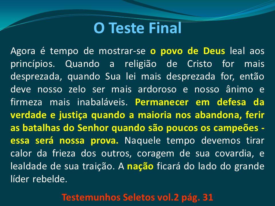 Testemunhos Seletos vol.2 pág. 31