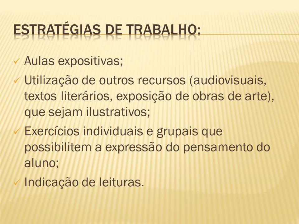 ESTRATÉGIAS DE TRABALHO: