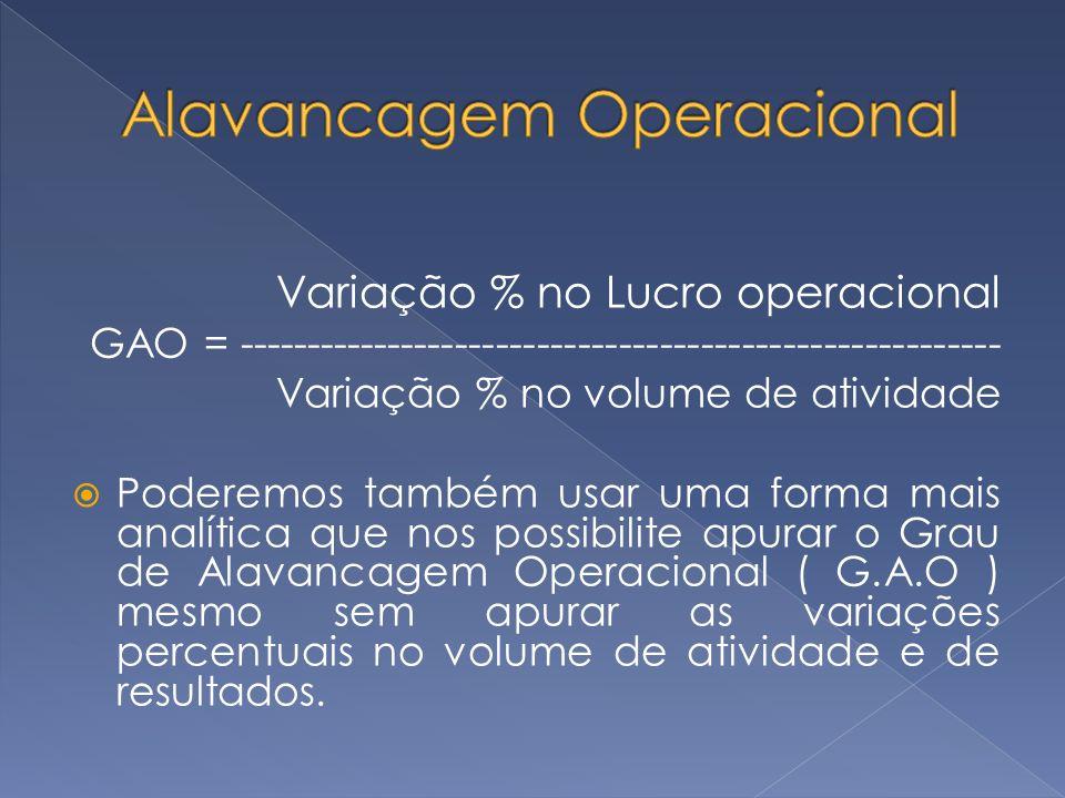 Alavancagem Operacional